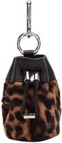 Alexander Wang Brown Calf-hair Mini Roxy Pouch Keychain