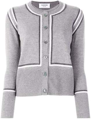 Thom Browne intarsia stripe cardigan