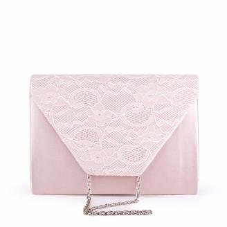 Paradox London Pink Womens DAMEKA Clutch Pink (Blush)