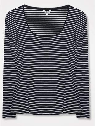 M&Co Khost Clothing striped square neck top