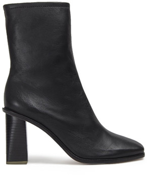 Black Suede Studio Gal Squared Toe Ankle Boot