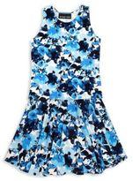 Un Deux Trois Girl's Floral Top & Skirt Set