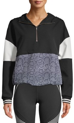 Avia Women's Athleisure 1/4 Zip Colorblock Pullover Hoodie