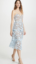 Self-Portrait Self Portrait Flower Lace Midi Tiered Dress