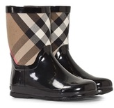 Burberry Ranmoor Black And Classic Check Welly Boot