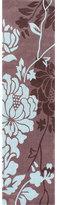 nuLoom Hanmade Alexa Pino Yarrow Floral Chocolate Runner Rug (2'6 x 10')