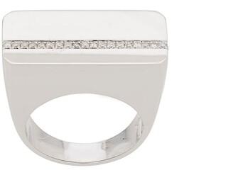 Ann Demeulemeester 18kt White Gold Embellished Ring
