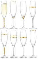 LSA International Deco Eight-Piece Champagne Flutes Set