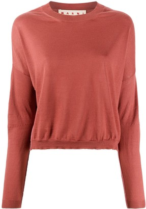 Marni Cropped Crew Neck Jumper