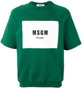 MSGM logo print sweatshirt - men - Cotton - S