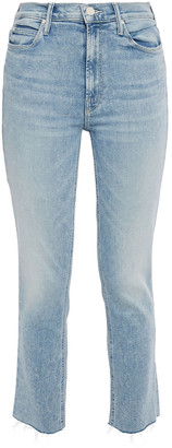 Mother Cropped Faded High-rise Skinny Jeans