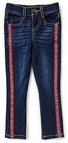Takara Little Girls 4-6X Side-Trim Denim Jeans