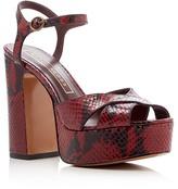 Marc Jacobs Debbie Snake-Embossed Platform Sandals