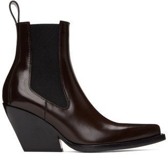 Bottega Veneta Brown Heeled Chelsea Boots