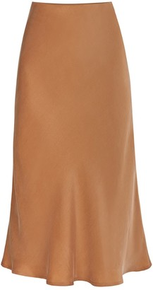 Flow Minimal Midi Skirt In Terracotta
