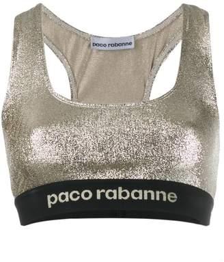 Paco Rabanne sparkle detail tank top