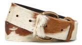 Vivienne Westwood Flintstone Roller Buckle Belt 82010009 White/Brown