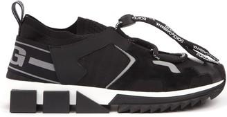 Dolce & Gabbana Sorrento Trekking Black Fabric & Leather Sneaker