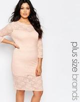 Club L Plus Midi Dress In Lace