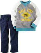 Carter's 2-pc. Football Playwear Cotton Pants Set - Baby Boys newborn-24m