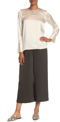 Vince Cropped Satin Culottes