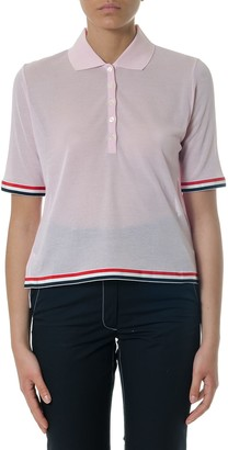 Thom Browne Pink Cotton Polo Shirt