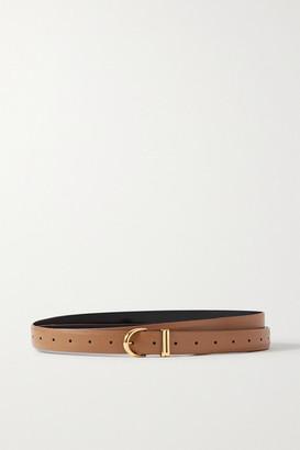 KHAITE Brooke Leather Belt - Tan