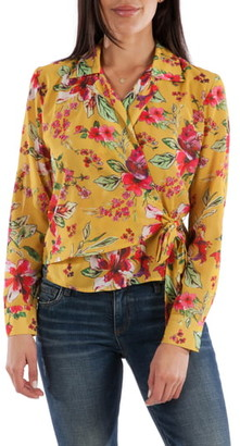 KUT from the Kloth Felicity Floral Wrap Blouse
