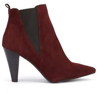 Mint Velvet Kayla Burgundy Suede Boots
