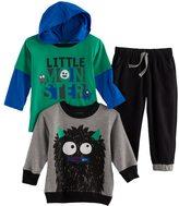 Nannette Baby Boy 3-pc. Monster Hooded Tee