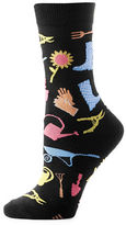 Yo Sox Allover Garden Pattern Crew Socks