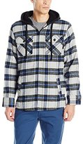 Burnside Men's Ritz Plaid Flannel Hooded Jacket with Sherpa Lining