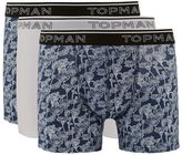Topman Navy and White Floral Print Trunks 3 Pack