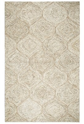 Pershing Gracie Oaks Hand-Tufted Wool Brown Area Rug Gracie Oaks Rug Size: Rectangle 5' x 8'