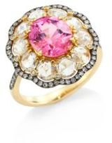 Ivy Rose-Cut Diamond & Pink Spinel Ring