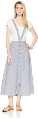 Jack by BB Dakota Junior's Latifah Striped Suspendered Maxi Skirt