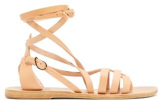 Ancient Greek Sandals Satira Wraparound Leather Sandals - Womens - Tan