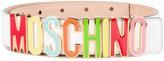 Moschino logo belt