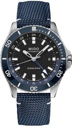 MIDO Ocean Star GMT Automatic Canvas Strap Watch, 44mm