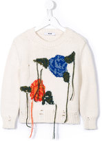 MSGM intarsia roses knitted sweater