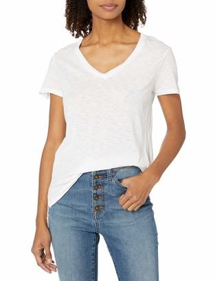 Stateside Women's Slub Jersey Short Sleeve V Neck Tee