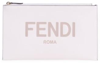 Fendi Medium Logo Leather Pouch