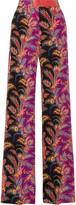 Etro Paisley-print Silk Crepe De Chine Wide-leg Pants - Coral