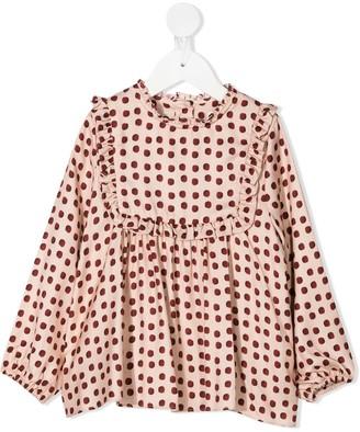 Marie Chantal Flora polka dot print blouse