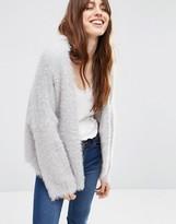 Asos Cropped Cardigan in Fluffy Yarn