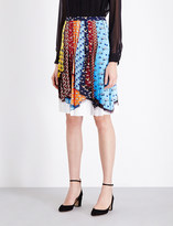 Mary Katrantzou Animal-print pleated crepe skirt