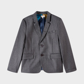 Paul Smith Boys' 2-6 Years Grey Wool-Silk 'Marcello' Blazer