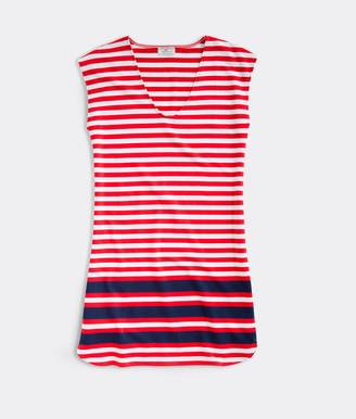 Vineyard Vines Sankaty Americana Striped Dress