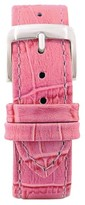 Speidel Leather with Alligator Pattern Replacement Watchband Fits 18mm - Pink