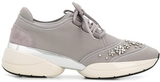 Carvela Lush crystal-embellished sneakers